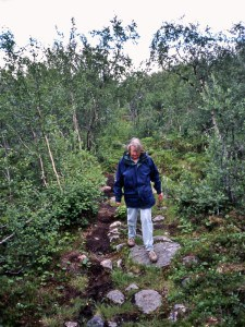 Gunvor Björn in Abisko (July 1997).